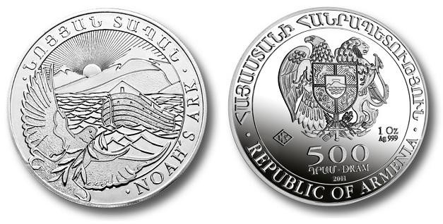 stříbrné mince / arche (celý)