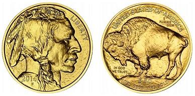 zlaté mince / Bufallo 1oz (celý)