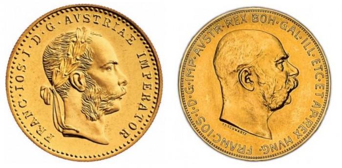 zlaté mince / Dukat_100 korun (celý)