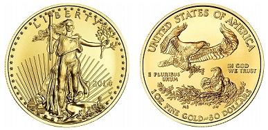 zlaté mince / eagle 1oz (celý)