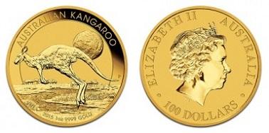 zlaté mince / kangaroo 1oz (celý)