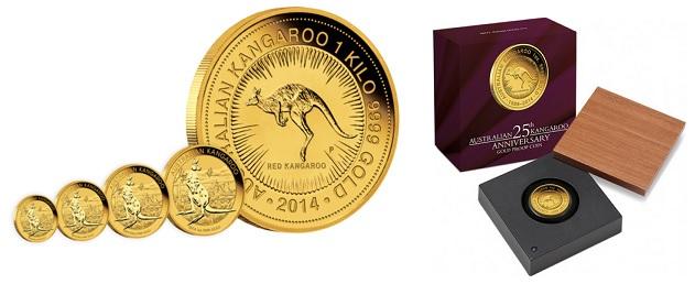 zlaté mince / kangaroo perth (celý)