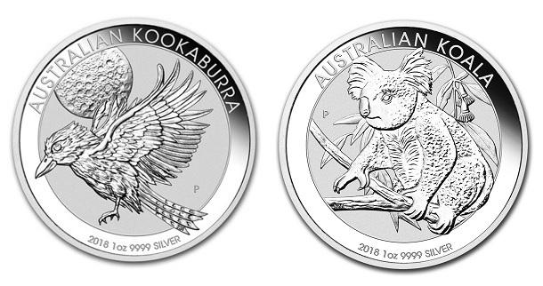 stříbrné mince / kookaburra_koala 2018 (celý)