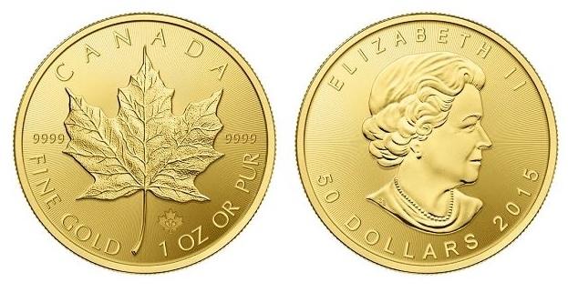 zlaté mince / maple leaf 1oz (celý)