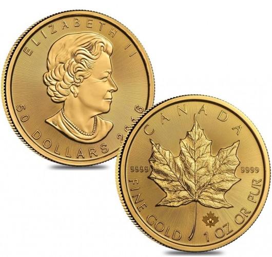 zlaté mince / Maple leag gold (celý)