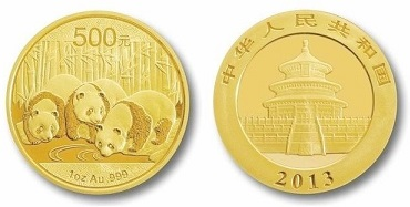 zlaté mince / panda 1oz (celý)