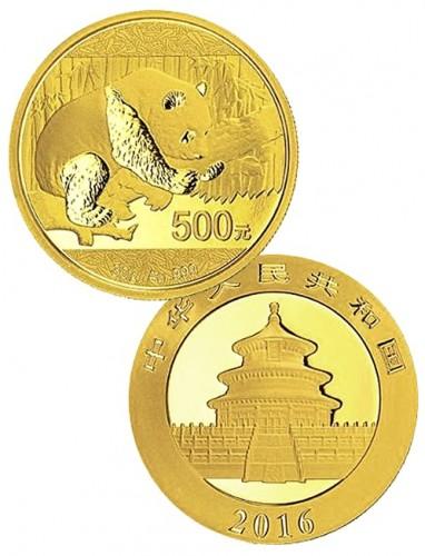 zlaté mince / panda 30g (celý)