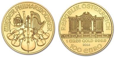 zlaté mince / philarmoniker 1oz (celý)