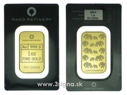 slitky / Rand Refinery 1 oz (celĂ˝)