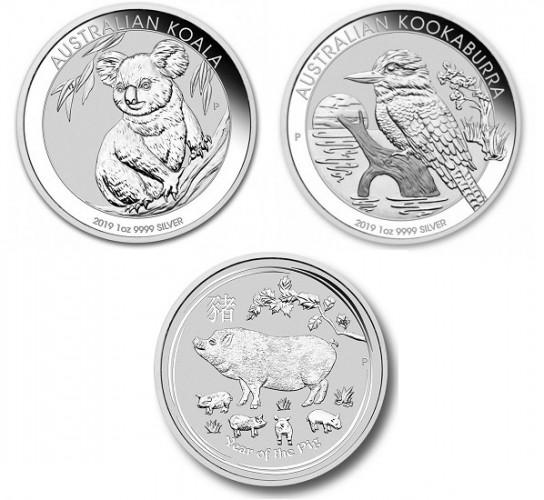 stříbrné mince / silver coin 2019 (celý)